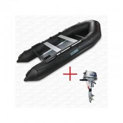 RIB400 Black + OUTBOARD  5 HP