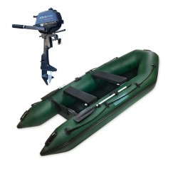 RIB330 Green + OUTBOARD 2,5 HP