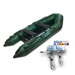 RIB330 Green + OUTBOARD 5 HP