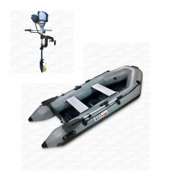 RIB280 Gray + OUTBOARD 1.2 hp