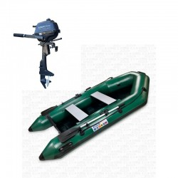RIB280 Green + OUTBOARD 2.5 hp
